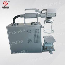 Волокна лазерной маркировки круглые трубы для длинных номер и штрих-кодов станок для лазерной маркировки