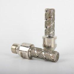 """Des Raizi CNC-Hilfsmittel-1/2 """" galvanisiertes Steintrommel-Rad Gas-Diamant-Finger-der Bit-20mm"""
