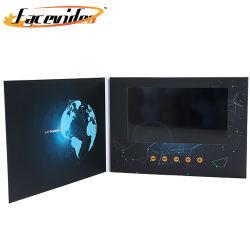 Ecrã de 7 Polegadas Facevideo Convite Cartão de Vídeo LCD Catálogo de Vídeo Eletrônico para os dons de negócios