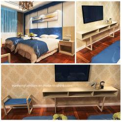 El bastidor de madera la tapicería de tela Hotel Cama base con ruedas