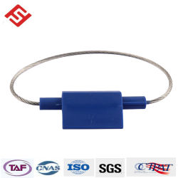 高い安全性は大きいフラグが付いているタイプ六角形ケーブルワイヤーシールの安全ロックのプラグを差し込む