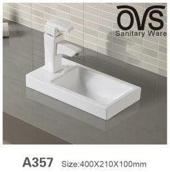 La cuenca del arte de la vanidad de baño Grifo lavabo de porcelana porcelana sanitaria