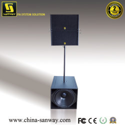 """Sistema line array attivo Sub dual da 10"""" e Sub Compact da 18"""" Q1&Q-Sub, altoparlante audio professionale con modulo amplificatore"""