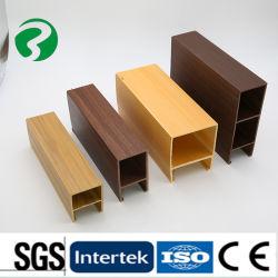 La decoración de interiores moderna de plástico de la madera, techo techo de PVC de 100*25mm de Shandong materiales de construcción