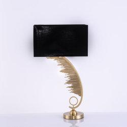 Hôtel table de nuit de l'or en bronze industriel d'éclairage Lampe de table de fer de plumes