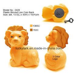 Löwe-Geld-Banker Belüftung-Münzkassette-Plastiklöwe-Spielzeug-Kasten