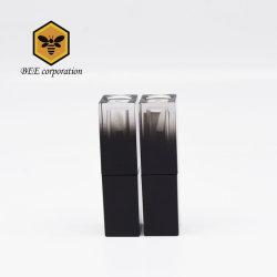 Estojo de plástico de mudança gradual Preto ABS Tubo Brilho Labial (BF39)