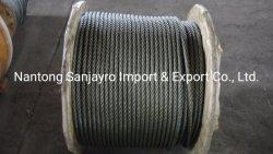 """Cable metálico de acero negro Acero 6X19 núcleo de acero 5/8"""""""