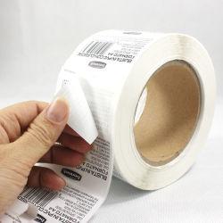 Échantillon gratuit imprimé personnalisé Papier thermique Adhésifs/PVC/vinyle/Logo autocollant, thermique adhésif, papier de copie