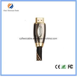 Gouden/Zwarte 4k Kabel 2.0 van HDMI Kabels aan HDMI met Nylon Netwerk