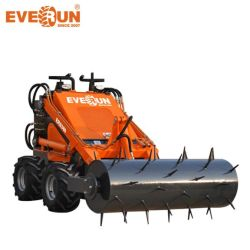 Everun Ers380 CE 소형 로더 유압 200kg 버킷 셔블 스키드 조향 로더