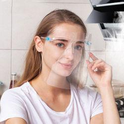 Anti-Fog reutilizáveis para o Rosto de PET transparente de segurança com estrutura de óculos