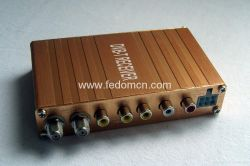 차량용 디지털 TV DVB-T 수신기 + 비디오 + 오디오 + 안테나 2개 + MPEG2