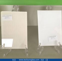 Fond blanc paroi arrière pour la construction de verre peints décoratifs