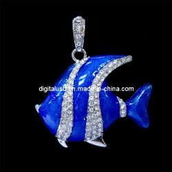 Реальные возможности новых синего цвета рыб и ювелирные изделия флэш-накопитель USB 2.0