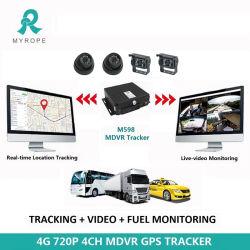 4CH sistema di obbligazione mobile dello scuolabus del registratore DVR dell'automobile della scatola nera del veicolo di deviazione standard GPS 4G WiFi Mdvr