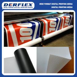 Support de solvant PVC Flex Frontlit blanc/noir de la bannière arrière