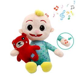Cocomelon Jjの人形Cocomelonを歌うアマゾン熱い販売の柔らかいプラシ天はCocomelonを就寝時間のJjの音楽的な人形もてあそぶ