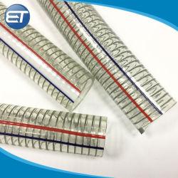 Spirale du fil en acier Zinc-Plated flexible en PVC renforcé pour l'aspiration
