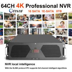 Anxinshi 64チャネル4K Onvifのスマートな分析NVR