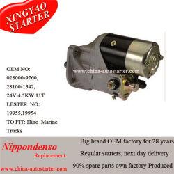 محرك Nippondenso Starter 0280009760 لهينو 24 فولت، 4.5 كيلو واط، 11 طن