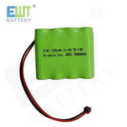 9.6V 1200mAh spärlicher nachladbarer Ni-MH AA Hochleistungsbatterie-Satz