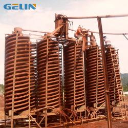 La arena de la minería calibre Jigger Expulsor de espiral separador para los minerales pesados Zircon Rutie 5% de descuento de hierro
