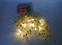 10L de perles de plastique de lumière blanc chaud Xmas String lumière