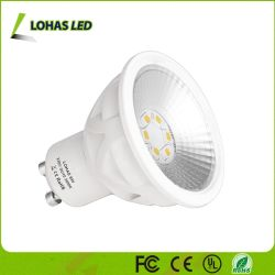 La puissance de l'enregistrement 6W GU10 modulable par LED spotlight ampoule lampe