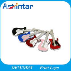 Wasserdichter Metall-USB-Flash-Speicher-Minischmucksache-Gitarre USB-Blitz-Laufwerk