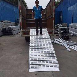 Алюминий Загрузка регулируемый 3 метр для тяжелых условий эксплуатации погрузчика уменьшается в соответствии с ноги