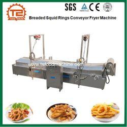Gepaneerde Squid Rings Transporteur Friteuse Machine En Frituurmachine Vervaardiging