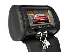 9pulgadas coche reproductor de DVD Reposacabezas con USB/SD/IR/FM/juego/AV