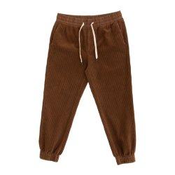 100%Cotton de corduroy Broek van Jogger van de Broeksband Strech voor Mensen