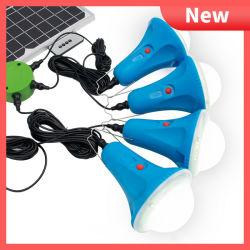Alimentation solaire portable Synsvo Chambre Kit lumineux avec panneau solaire 25W 4PCS xénon