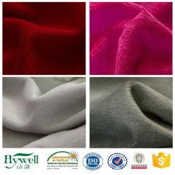 100 % polyester Super doux colorés Micro Velboa Tissu de couverture