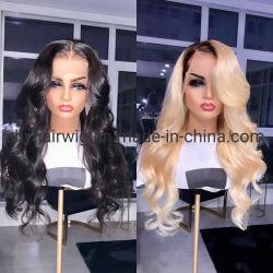 613 El cabello virgen natural completo sin pegar Puntilla Puntilla de onda de cuerpo peluca pelucas frontal para la mujer peluca delantera de encaje encaje peluca frontal de 360