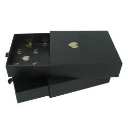 درج مخصص مصنوع يدويًا باللون الأسود الرقيق مزود بصندوق عرض للهدايا بالجملة