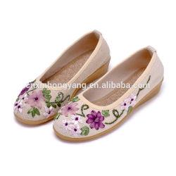 25 лет на заводе пользовательские ленты вышивка плоскую обувь, Старого Пекина ткани с вышитым туфли ручной лента ткань обувь