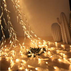 China Ramo de salgueiro Artificial Cortina de Cachoeira do LED luzes de String