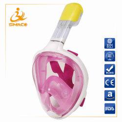 Smaco Anti-Fog Anti-Leak Silicone facial completa piscina de mergulho com máscara de mergulho com snorkel