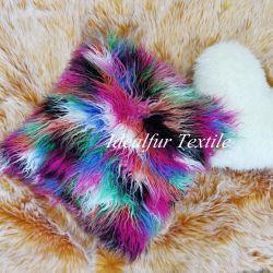 المنغولية الشعبية المخصصة لتجارة الجملة الأريكة الطويلة الوهمية fur Pillow الغطاء