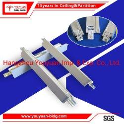 PVC /Mineral 섬유 석고 위원회를 위한 직류 전기를 통한 강철 Fut 또는 편평한 중단된 금속 T 격자 천장 T 바