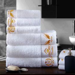 Отель коллекции роскошь 100% хлопок белый цвет корпуса отеля полотенце