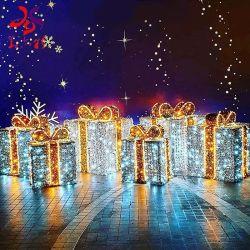 3D-LED рождественских подарков ящики стиле фонари