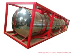 40FT серы ISO цистерны (изолированный Оболочка из нержавеющей стали 316л резервуар для жидкости расплавленной серы транспортных систем хранения данных)