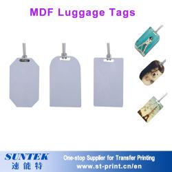 DIY sublimação personalizados etiqueta de bagagem Swholesale MDF em branco