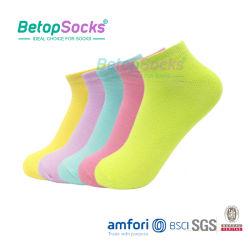 Kundenspezifische Frauen-Tief-Schnitt-Großhandelssocken mit Bambusfaser