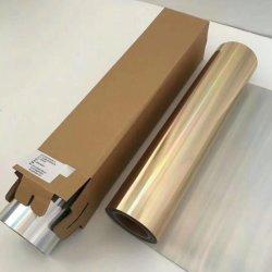 Usine de gros rouleaux de l'or de film PET flexible en PVC Vinyl Htv Cricut feuille métallique Htv Film de transfert de chaleur pour T Shirt
