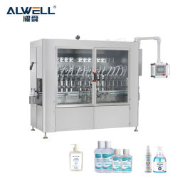 자동 공압 4 헤드 살균기 겔 알코올 병 충전 밀봉 기계